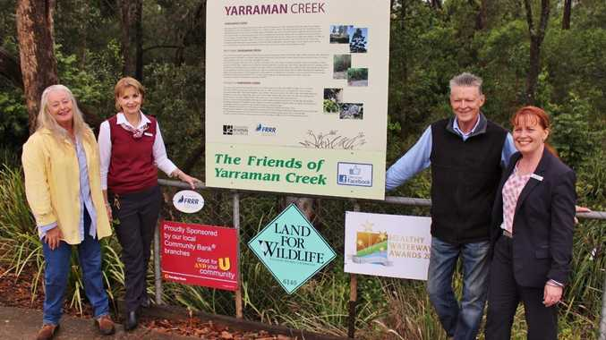 Susan Reilly and Anne Woodrow joined by by Yarraman Creek by Scott Reilly and Cheryl Nix.Photo Contributed