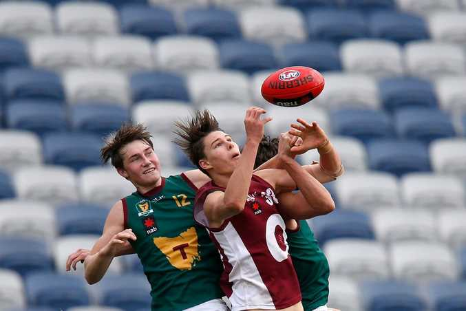 Eric Hipwood starring for the Queensland under-18s at the national championships in Geelong this year. Photo: Getty Images.