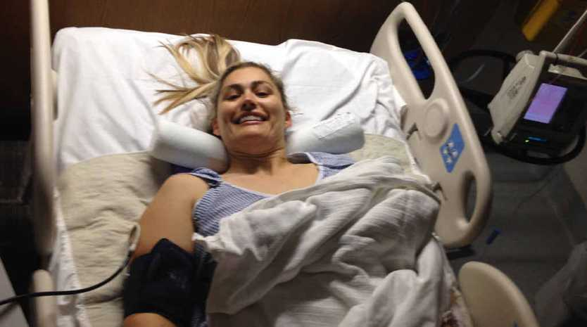 DETERMINED: Marayke Jonkers will continue her fundraising efforts even from her hospital bed.