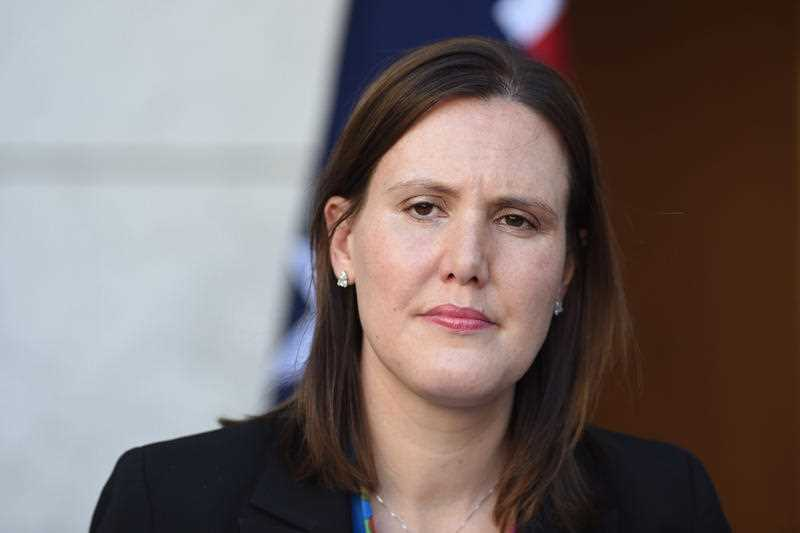 Australian Assistant Treasurer Kelly O'Dwyer speaks during a press conference at Parliament House in Canberra, Tuesday, Oct. 20, 2015.