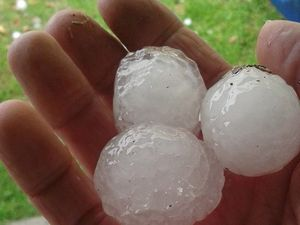 VIDEO: Queensland hit by huge hail as storms move in