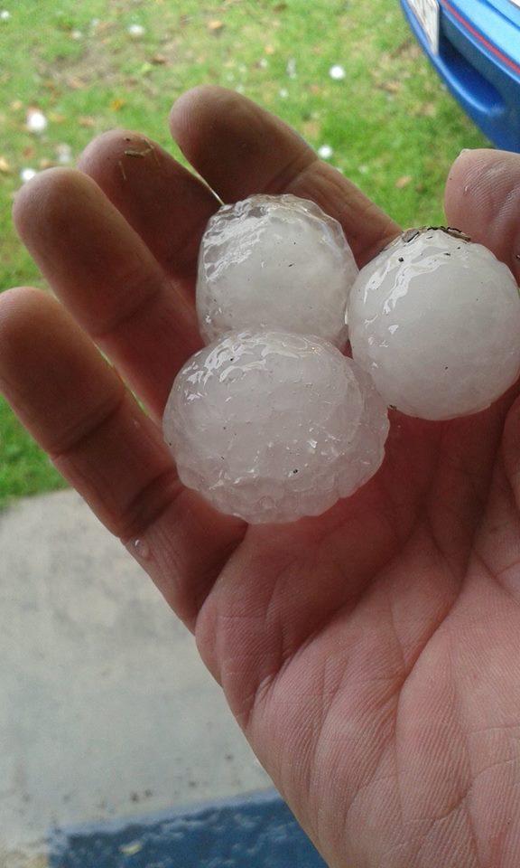 Hail at Stanthorpe.