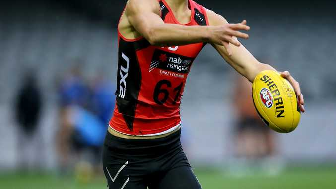 Eric Hipwood during the recent AFL Combine in Melbourne. Photo: Getty Images