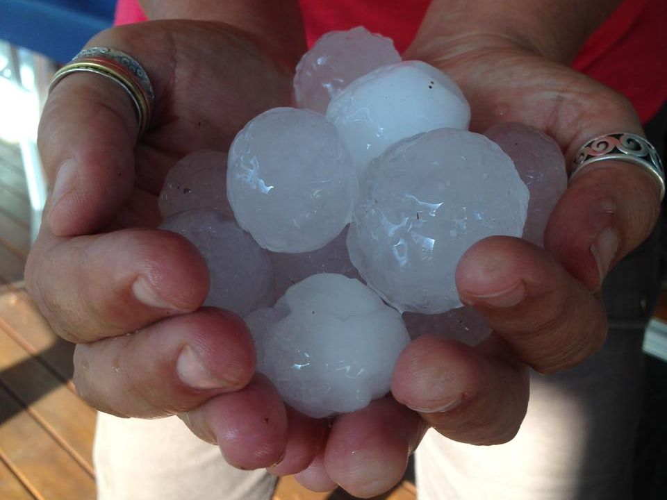 Giulia Bonfanti snapped this photo of hail that fell near Stanthorpe this afternoon.