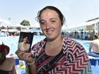 Participant in the MS Swimathon at Milne Bay Aquatic Centre, Jaz Rule swims to honour her mum who died from MS.