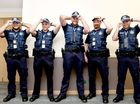 New recruits - five more constables are calling the fraser Coast home. Constables Nick Bell, Tim Elliott, Isaac Collihole, Chris Paschedag and Josh Kratzmann. Photo: Valerie Horton / Fraser Coast Chronicle