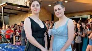 Amara Jarick and Shayna Jarick. School Formals. St Patrick's College, Civic Centre. November 17, 2015.Photo Patrick Woods / Gympie Times