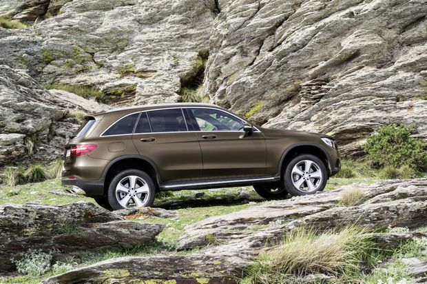 WELCOME TO THE PARTY: Mercedes' GLC mid-size SUV is sure to boost the high-flying luxury SUV market even further.
