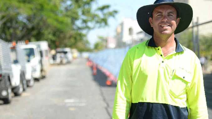 GOOD BUSINESS: Aaron Hill is one of the local business owners doing contract work for Rockhampton Regional Council.
