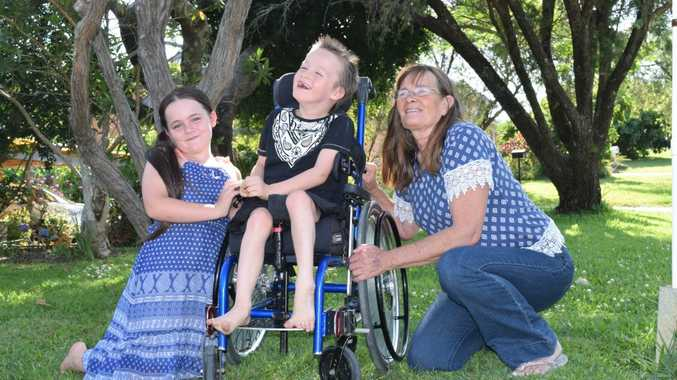 ADVENTUROUS: Christian Sheridan-Bridges needs an all-terrain wheelchair to enable him to have more fun in the sun.