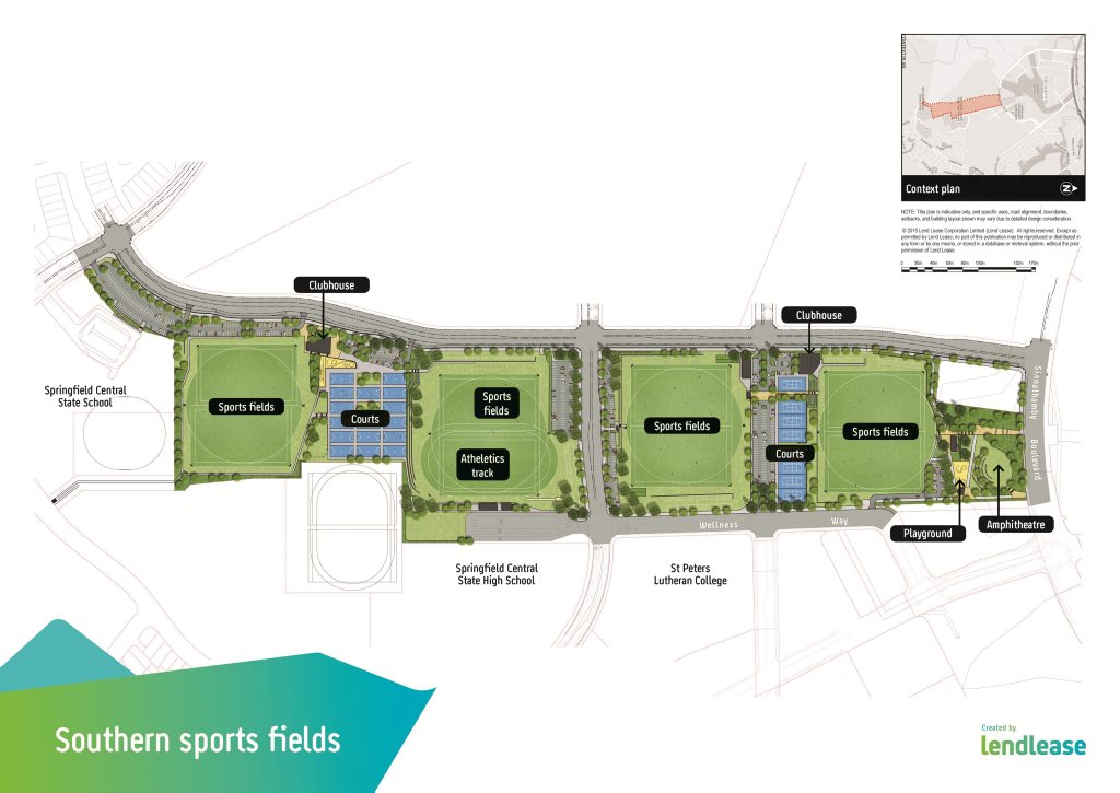 Lendlease's Springfield Rise will feature the district's biggest sporting fields. Photo Contributed