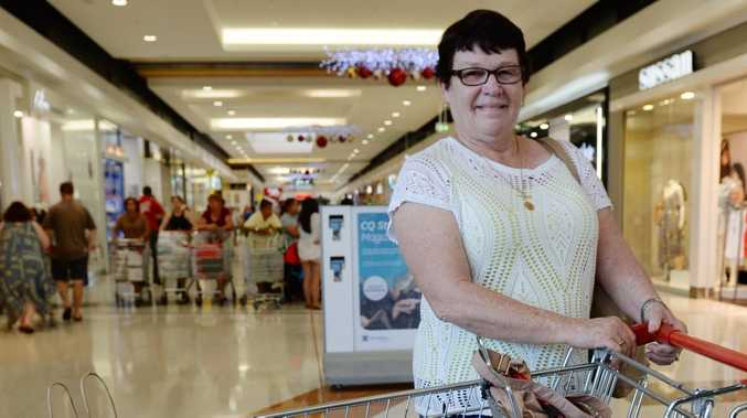 Berneice Leek doing her Christman shopping at Stockland Rockhampton. Photo Allan Reinikka / The Morning Bulletin
