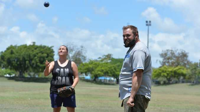 Tammy and Codie Hickling are trying to get baseball back in Mackay. Photo Chris Lees / Daily Mercury