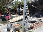 'Nightmare' as shed burns just three metres from house