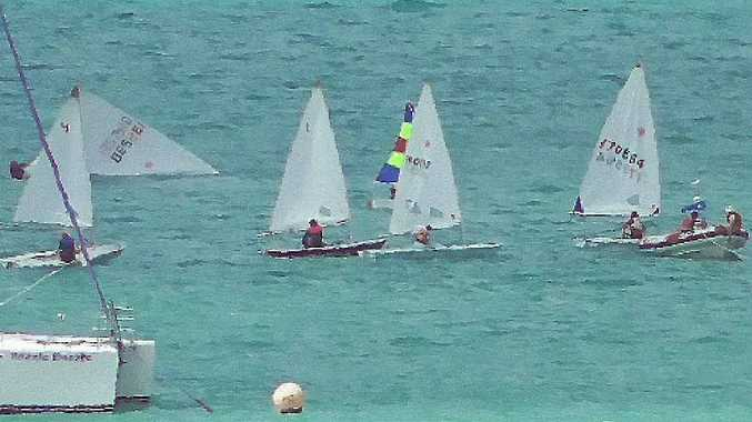 GUSTY CONDITIONS: It was a blustery start for the off beach racers.