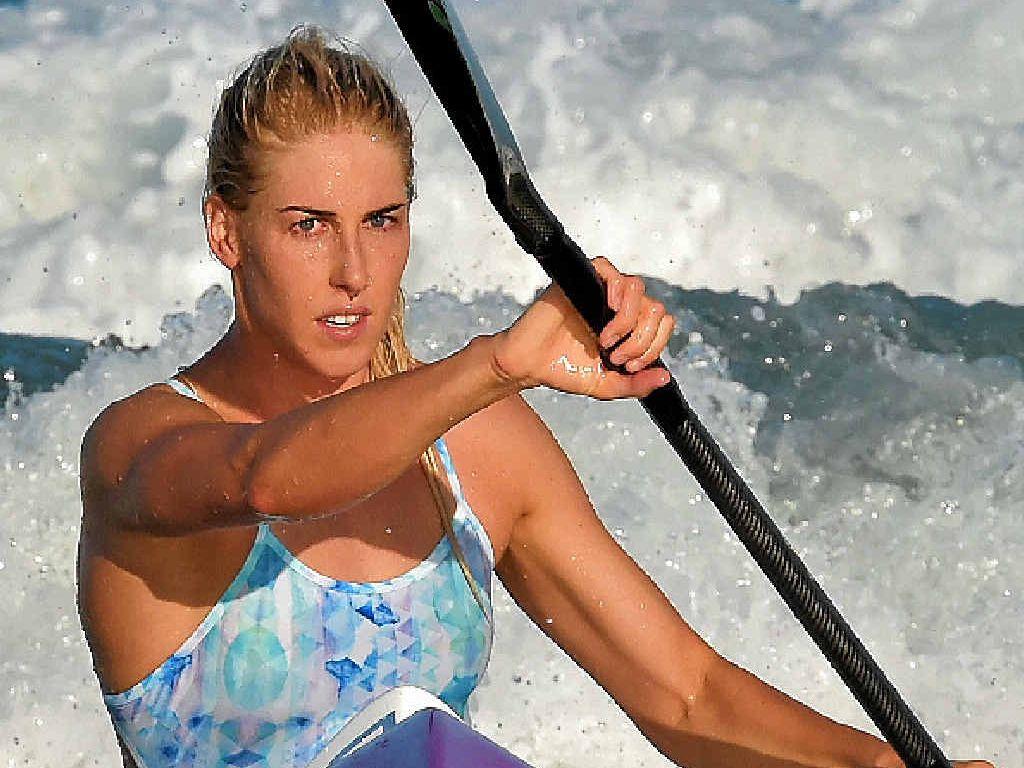 Ironwoman Kirsty Higgison prepares for the Nutri-Grain Ironwoman Series at Coolum this weekend.