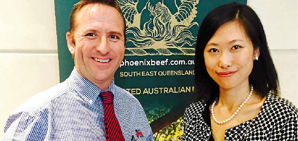 MEETING: Tim Burgess of Mort & Co and Wen Liu of TSBE.