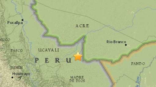 The epicentre of the Peru quake.