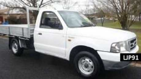 The pair are believed to be travelling in a white Ford utility Queensland registration LJP91 similar to the one pictured.