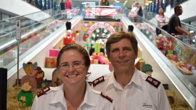 Captain Jenny Reeves and Major Lindsay Reeves spread the message of hope at Christmas in Lismore Square