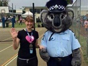 Adopt-a-Cop Rachael and Constable Clancy buddy up