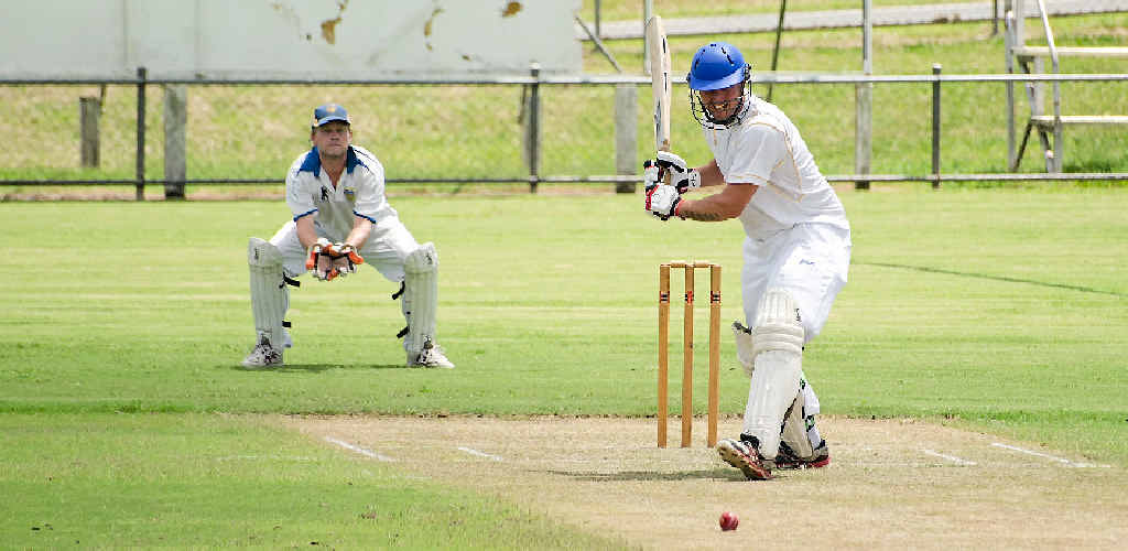 Steve Brady pictured in a previous match for Gold got Gympie's innings off to a good start with 37 in the Caloundra Events Centre T20 grand final on Tuesday night.
