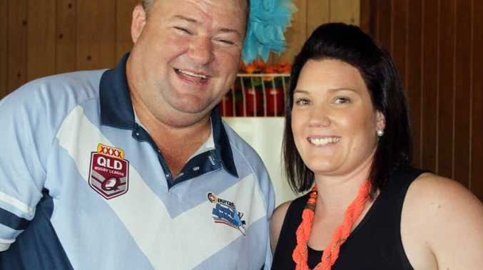 WINNING WAYS: Central Highlands rugby league president Frank Lambley with ladies player of the year Elle Waters.