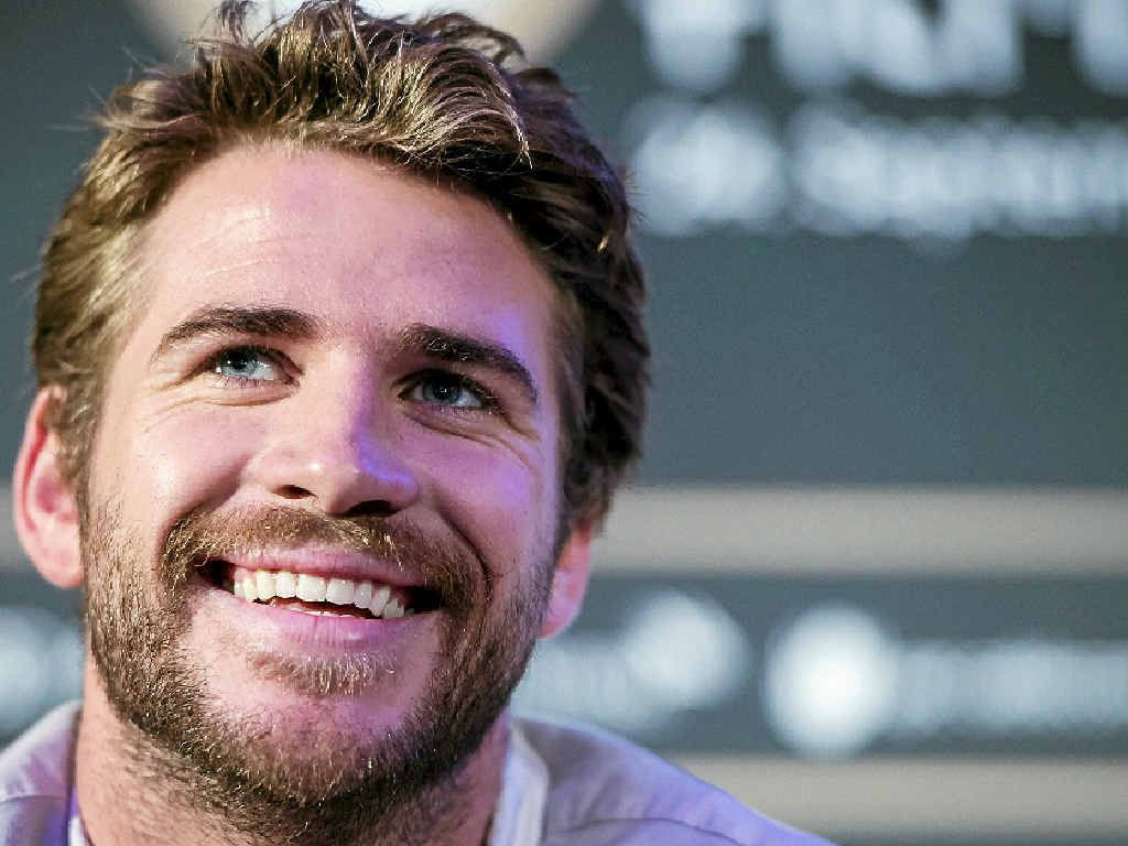 ONE OF OUR FAVOURITE SONS: Australian actor Liam Hemsworth attends a press conference for The Dressmaker.