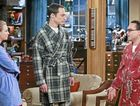 Kaley Cuoco, Jim Parsons and Johnny Galecki are all ears in a scene from the TV series The Big Bang Theory.