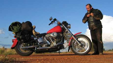 I have trouble selling bikes which is why I've wound up with a collection of old dungers. My brother Nicko and I both bought 1984 Harleys during a spell making a few quid and by the mid '90s I'd modified this one for long-haul bush work. It did three laps of Australia including the Birdsville and Oodnadatta tracks twice just to prove you could fix anything with a rock and a chisel.