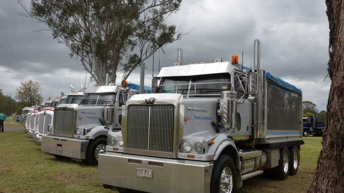 Trucks on show at the Beauy Muster October 31. Photo Carly Morrissey / Big Rigs