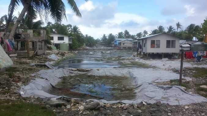 The 'borrow pits' were dug all over the Tuvaluan island of Funafuti during World War Two.