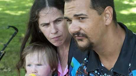 Kim Wright and William Bower, with their son Sidney, lost their son Malaki two years ago from croup.
