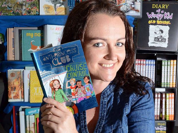GIRL POWER: Suffolk Park author Samantha Turnbull with her fifth novel in The Anti-Princess Club series, Cruise Control.