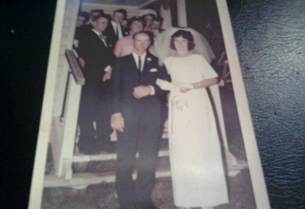 Lyn and Victor Ferris married in the Bororen Anglican Church in 1968.