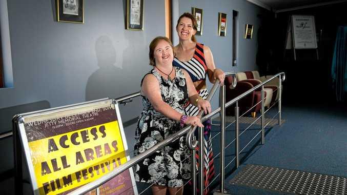 Access All Areas film festival Rebecca and Kate HowatJetty theatre26  November 2015.  Photo  Trevor Veale/Coffs Coast Advocate