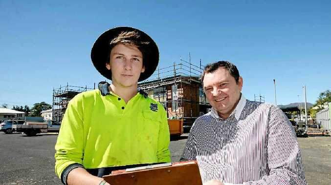 BOOMING SUCCESS: CTC manager Darryl Lapworth, pictured with carpentry apprentice Ben Elliott, says more than $1.6 million worth of jobs have been pledged in one week.