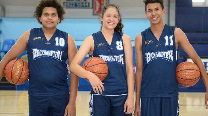 ROCKY REPS: Rocky representative under 16 basketballers Tyreek Tatou, Alicia Smythe and Mylique Prior will head north for the annual Mackay Challenge this weekend.