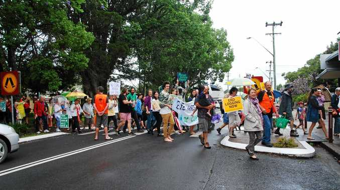 The rain was no hindrance to the Bellingen marchers supporting climate action.