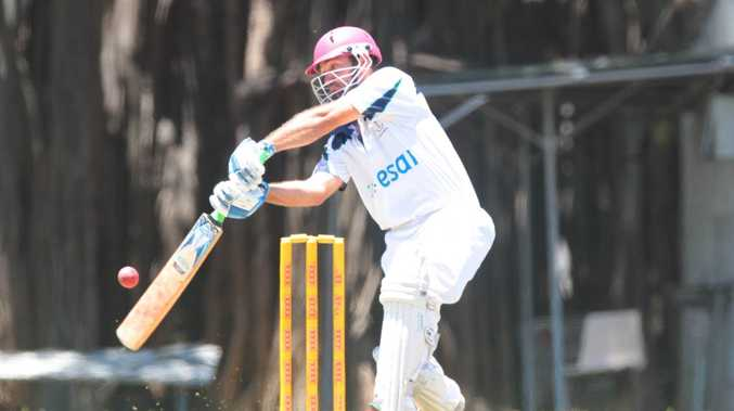Brothers player Ken Litchner in the cricket game against Yaralla at the Rockhampton Cricket Grounds on Saturday. Photo: Chris Ison / The Morning Bulletin