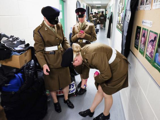 Female Junior soldiers from 19 Platoon in Harrogate