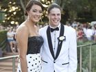 ( From left ) Chloe Cooper and Connor Duncombe arrive at the Centenary State School formal at Picnic Point.