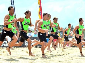Ironmen and women race at Coolum Beach