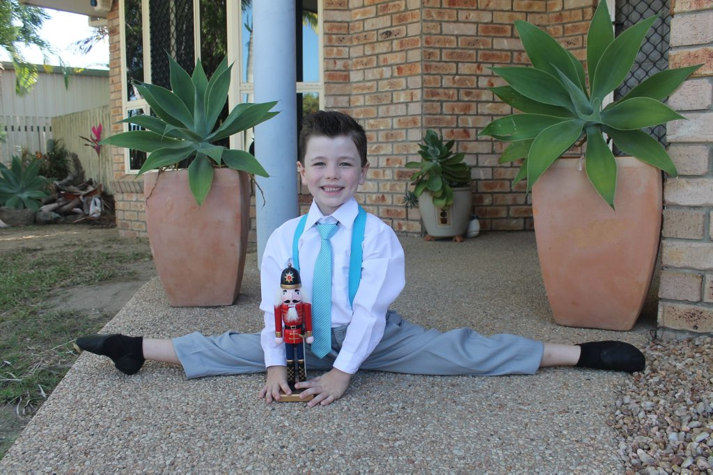 Sullivan Goldsworthy won this Nutcracker doll as part of his Queensland Ballet prize pack. Photo Lucy Smith / Daily Mercury
