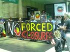 Indigenous group rallies in CBD over 'forced closures'