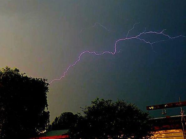 Johanne Platt snapped this photo of lightning at Kingaroy on Friday afternoon.