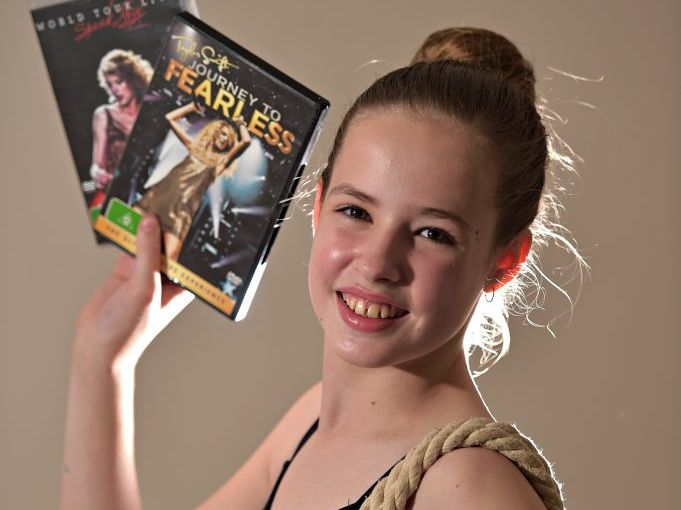 Ella Sinclair has cystic fibrosis and is a huge Taylor Swift fan and hopes to meet her one day. Photo: Warren Lynam / Sunshine Coast Daily