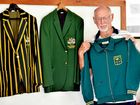 LEGEND: Don McWatters at the Wallaroos clubhouse with some of the memorabilia he donated to the club, including the 1980 Olympic blazer.