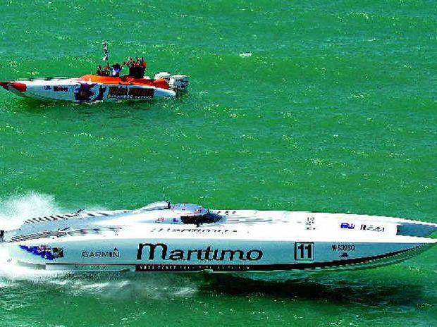 WINNER: Maritimo racing won the Supercat Extreme class in Hervey Bay.