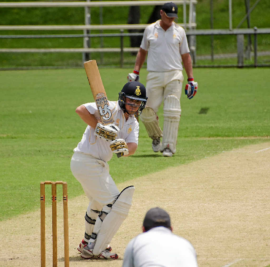 Gympie player Lewis Waugh made 30 runs at Albert Park at the weekend.